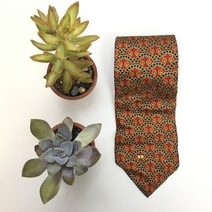 Valentino Patterned Silk Tie Made In Italy